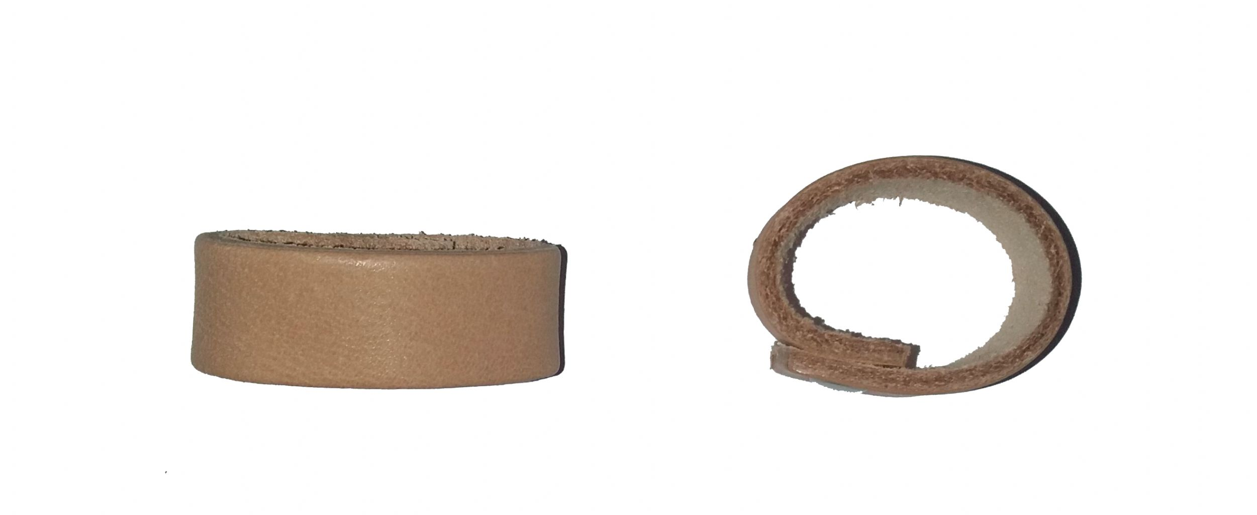REPLACEMENT LEATHER RING FOR SCOUT BELT (through ring)