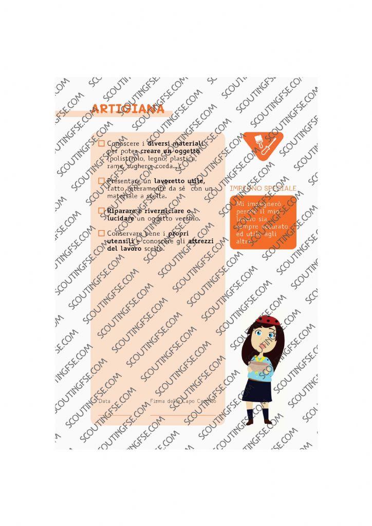 CARD SPE. COC. ARA. ARTIGIANA