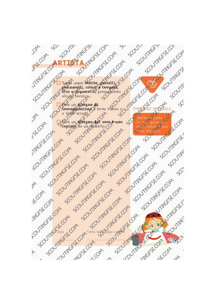 CARD SPE. COC. ARA. ARTISTA