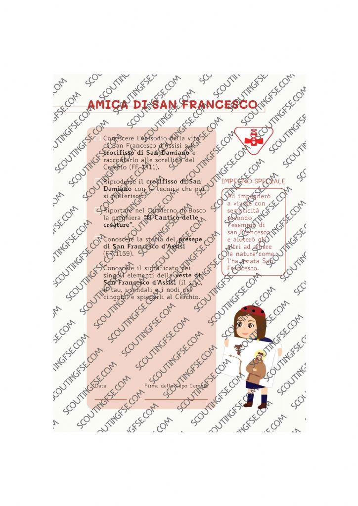 CARD SPE. COC. BIA. AMICA DI SAN FRANCESCO