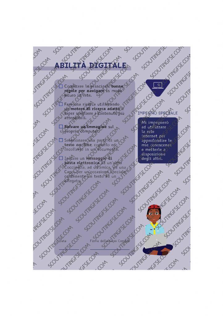 CARD SPE. COC. BLU. ABILITA DIGITALE