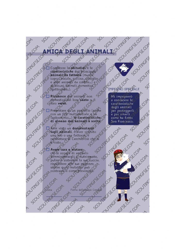 CARD SPE. COC. BLU. AMICA DEGLI ANIMALI