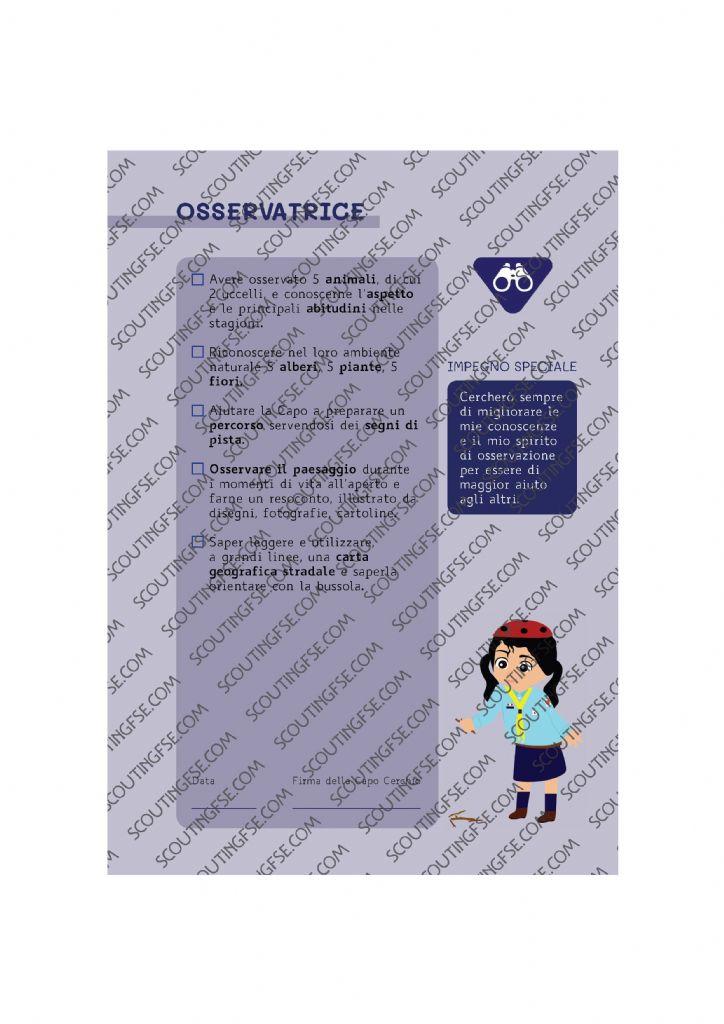 CARD SPE. COC. BLU. OSSERVATRICE
