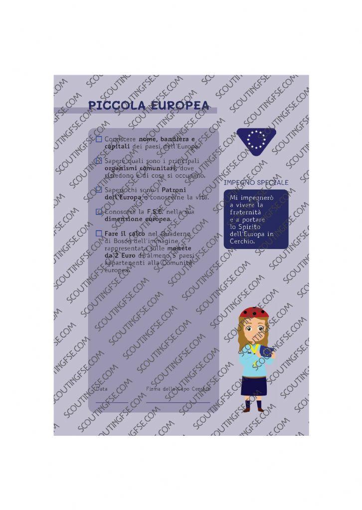 CARD SPE. COC. BLU. PICCOLA EUROPEA