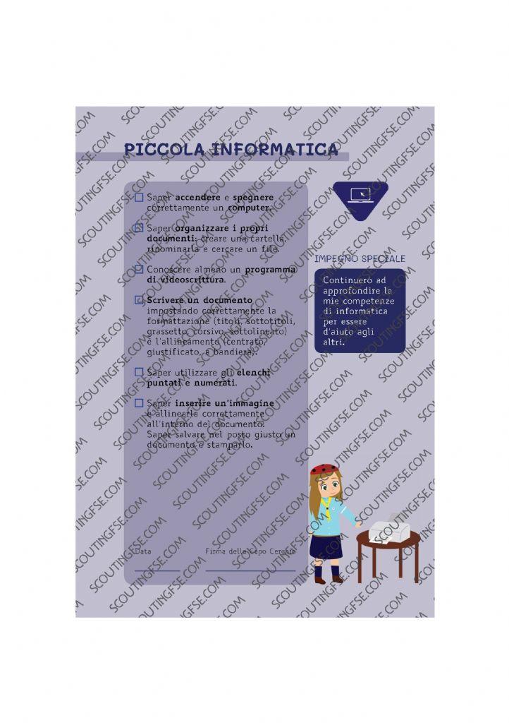 CARD SPE. COC. BLU. PICCOLA INFORMATICA