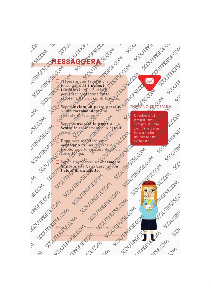 CARD SPE. COC. ROS. MESSAGGERA