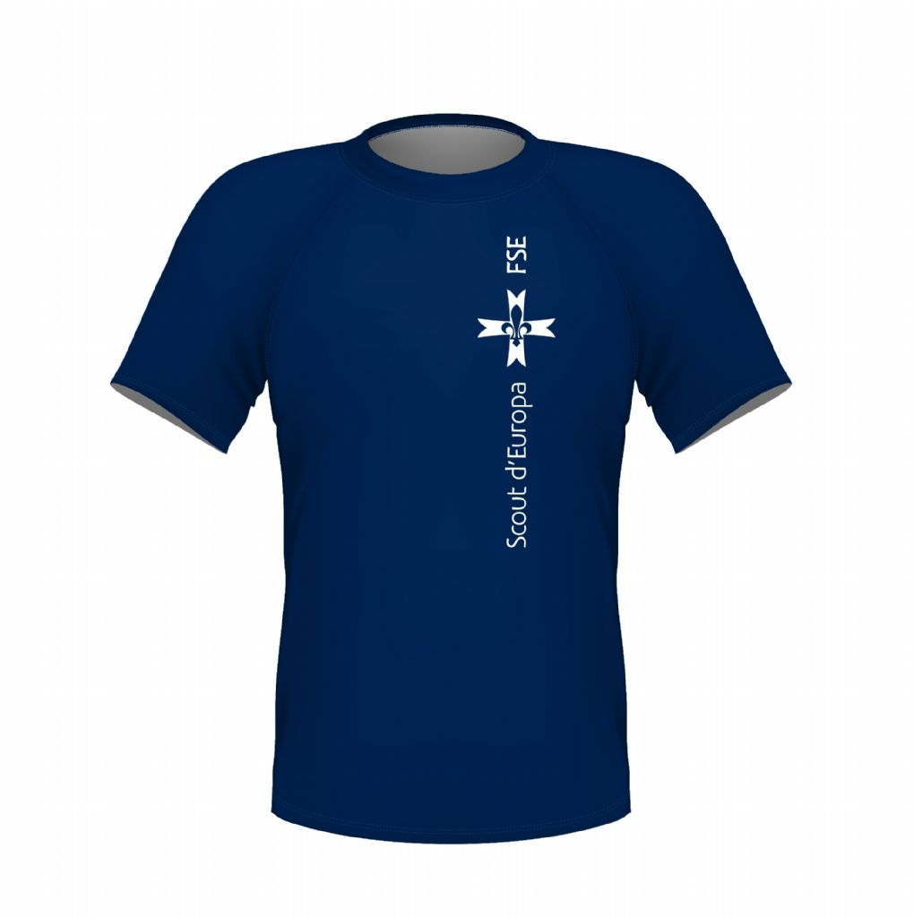 MENS / WOMENS BLUE VERTICAL LOGO T-SHIRT
