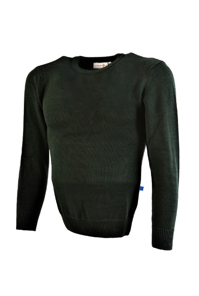 GREEN LUPETTO SWEATER