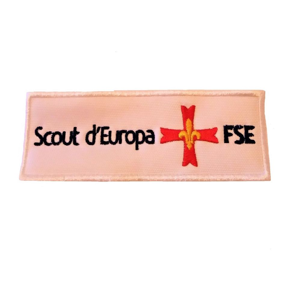 PATCH SCOUT D'EUROPA bianco